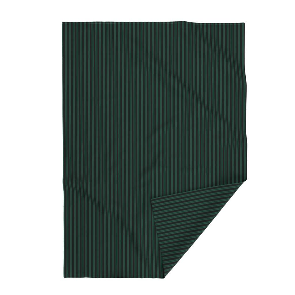 Lakenvelder Throw Blanket featuring Mansion Maid Green Stripe Pattern by loosetoon