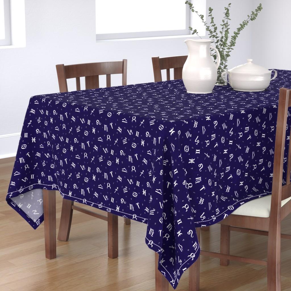 Bantam Rectangular Tablecloth featuring Symbols of Astrology  by autumn_musick