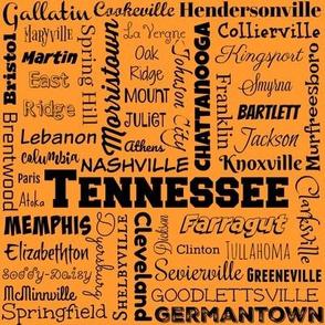 Tennessee cities, orange