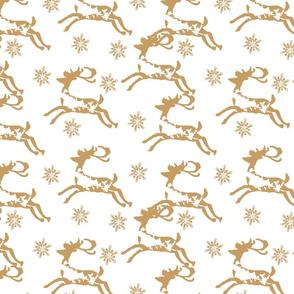 Christmas golden deers