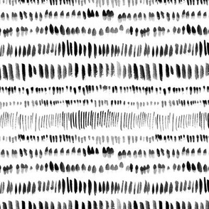 Abstract Ink Pattern in Black and White