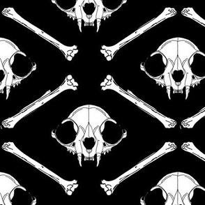 cat skull2 black