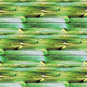 Planches de bois vert - Wood boards green (horizontal)