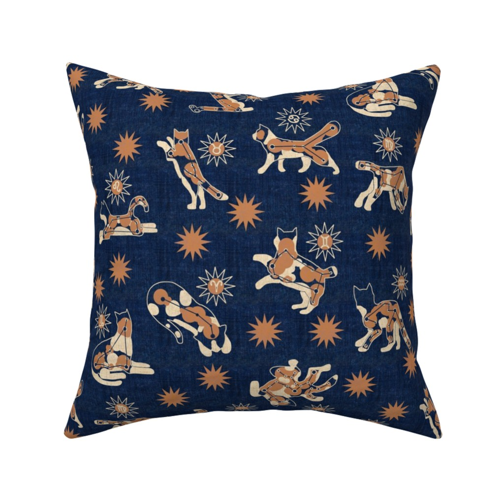 Catalan Throw Pillow featuring Astrologicalico Catstellations 1 by eclectic_house