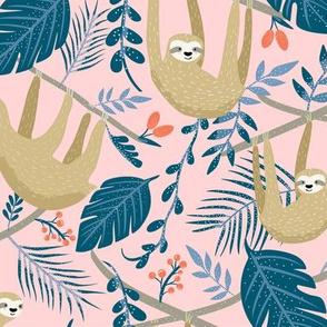 Sloth in the jungle- blush