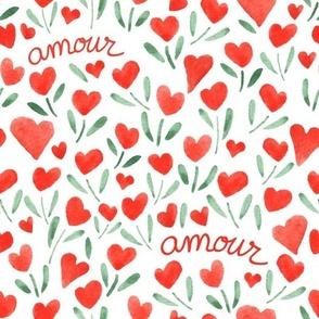 Fleurs de coeur d'amour