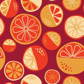 Just Oranges on red