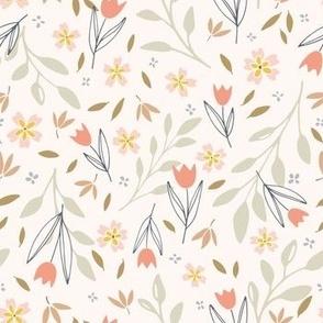 Aurora_bright flower botanical design for apparel and home decor small scale