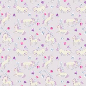 Floral Unicorns: Pink