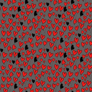 Be my valentine on dark grey background