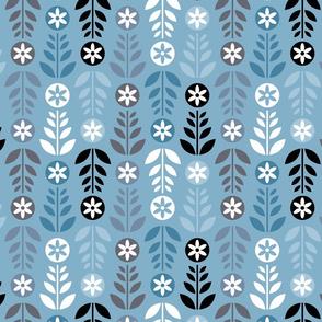 Scandinavian Flowers Blue