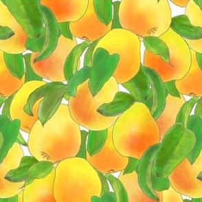 Sweet Ripe Pears Watercolor