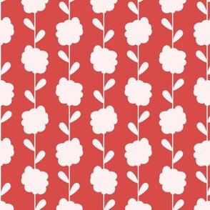 Scandi Flowers - Mustard and Pink - Flower Stripe Coordinate