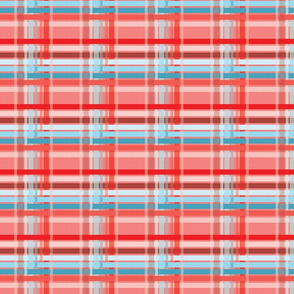 Living Coral Plaid Burlap-01