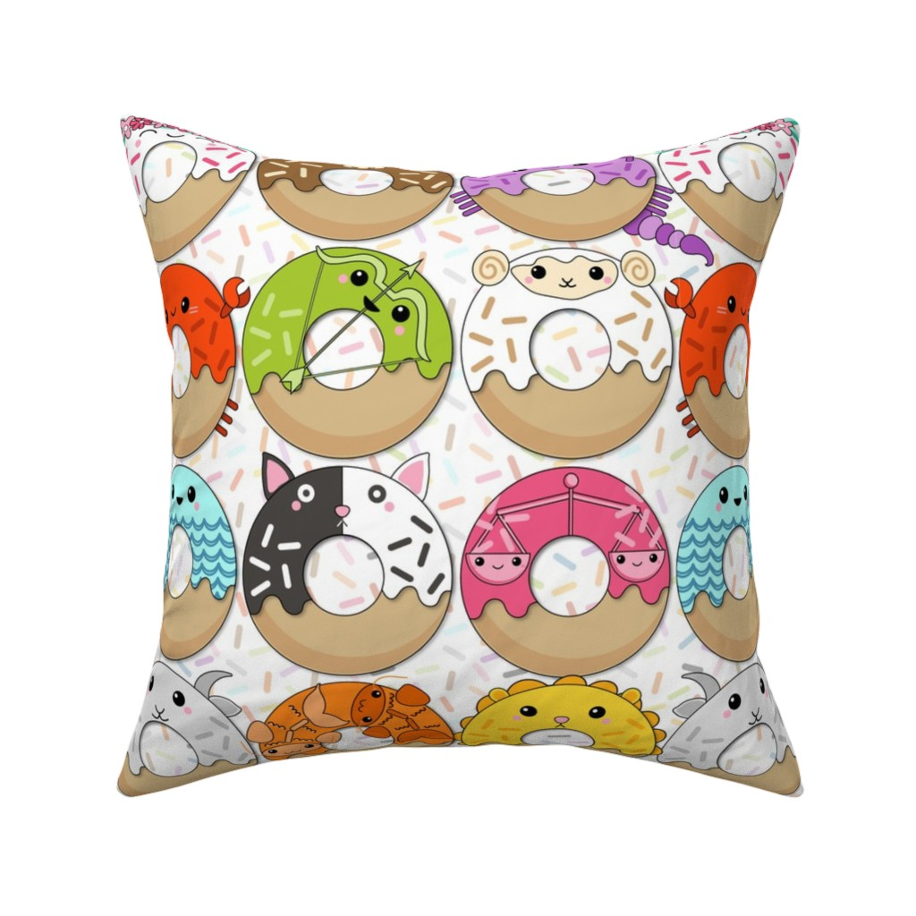 Catalan Throw Pillow featuring When All the Donuts Align by nanshizzle
