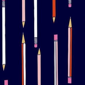 pencil school pens STEM pattern