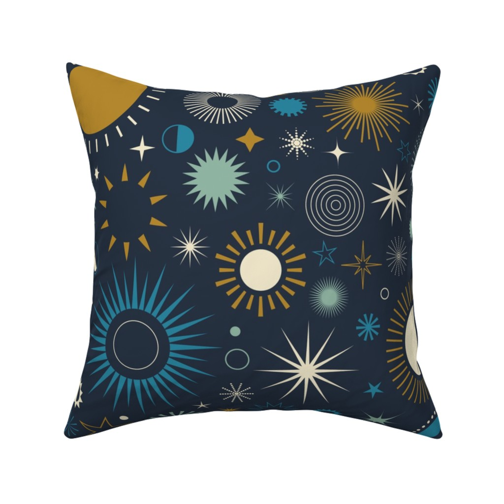 Catalan Throw Pillow featuring Age of Aquarius by katerhees