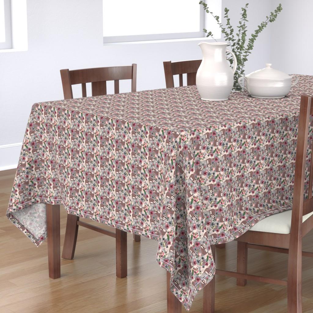 Bantam Rectangular Tablecloth featuring Lovable Sloths - Small by sarah_treu