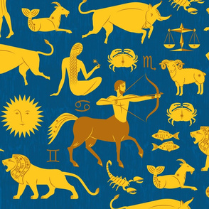 Sun Signs Art Deco Zodiac