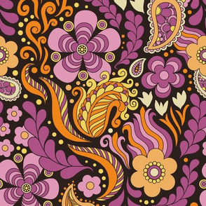 Groovy Floral Pink large scale