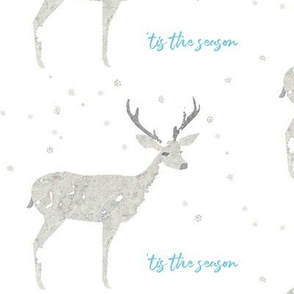 'Tis the Season, Deer and Snowflakes Collage