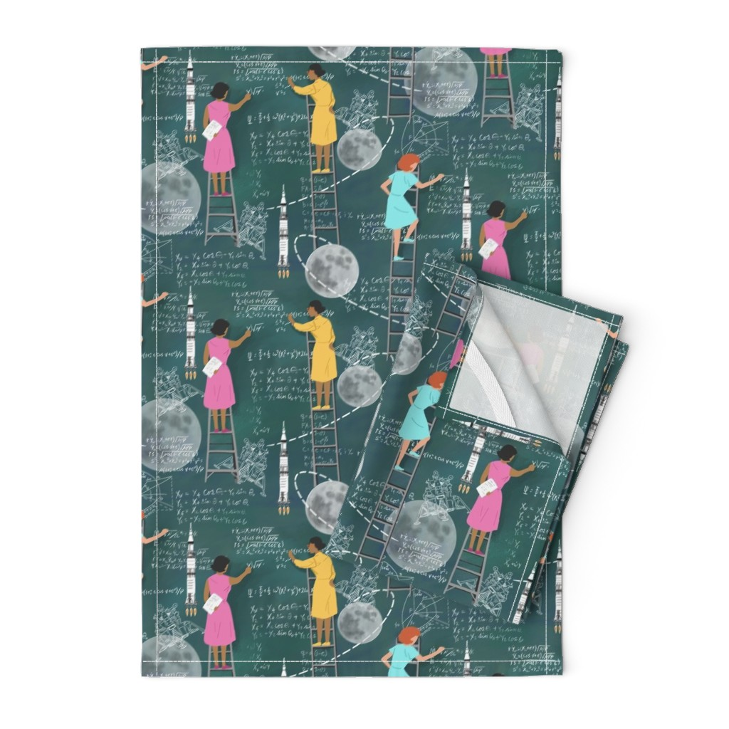 Orpington Tea Towels featuring Calculating the Moon by vinpauld