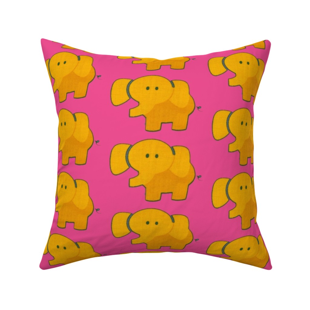 Catalan Throw Pillow featuring elepink by snork