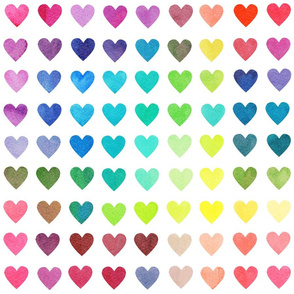 Colour Chart Hearts