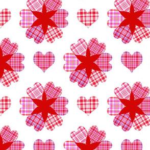 Be My Valentine Plaid Hearts