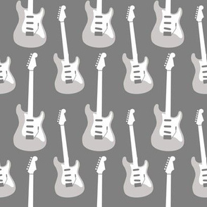 Electric guitars, grey scale