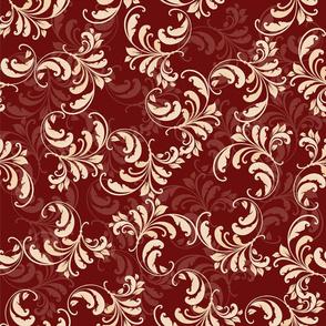 Baroque swirls Covent Garden Burgundy