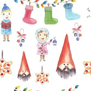 Christmas Watercolor Pattern Kids