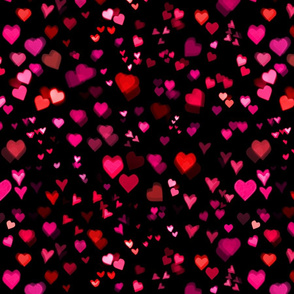 Bokeh Hearts Galaxy of Love