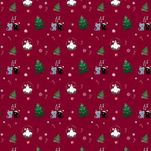 Red Snowglobe Kitty Caroling