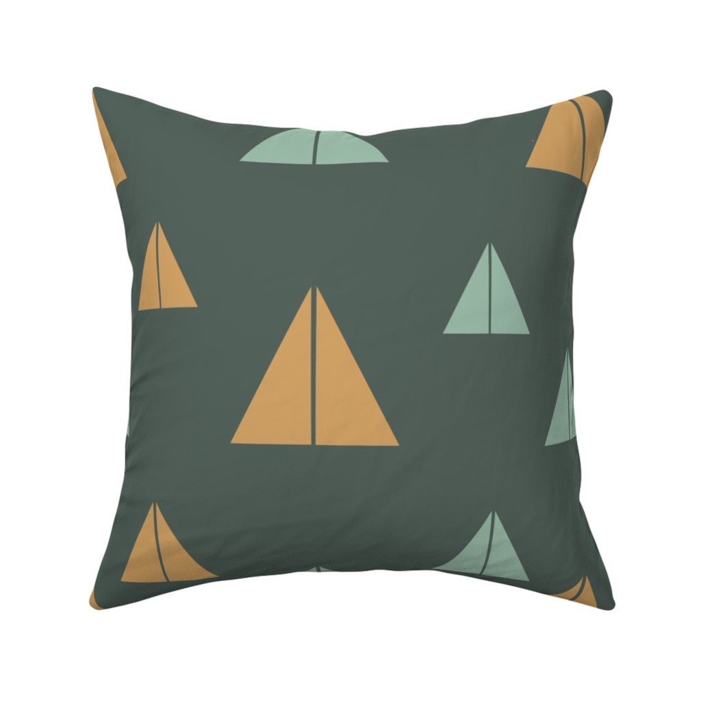 Catalan Throw Pillow featuring Abstract Mountains by saralinegraphics