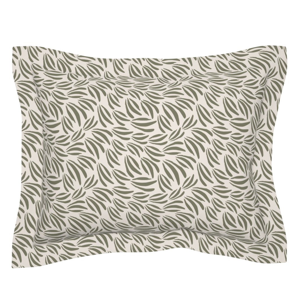 Sebright Pillow Sham featuring Acrylic Paint Daubs    Leaf Green by erin__kendal