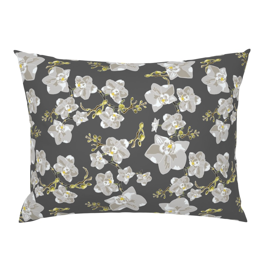 Campine Pillow Sham featuring Orchids by saralinegraphics