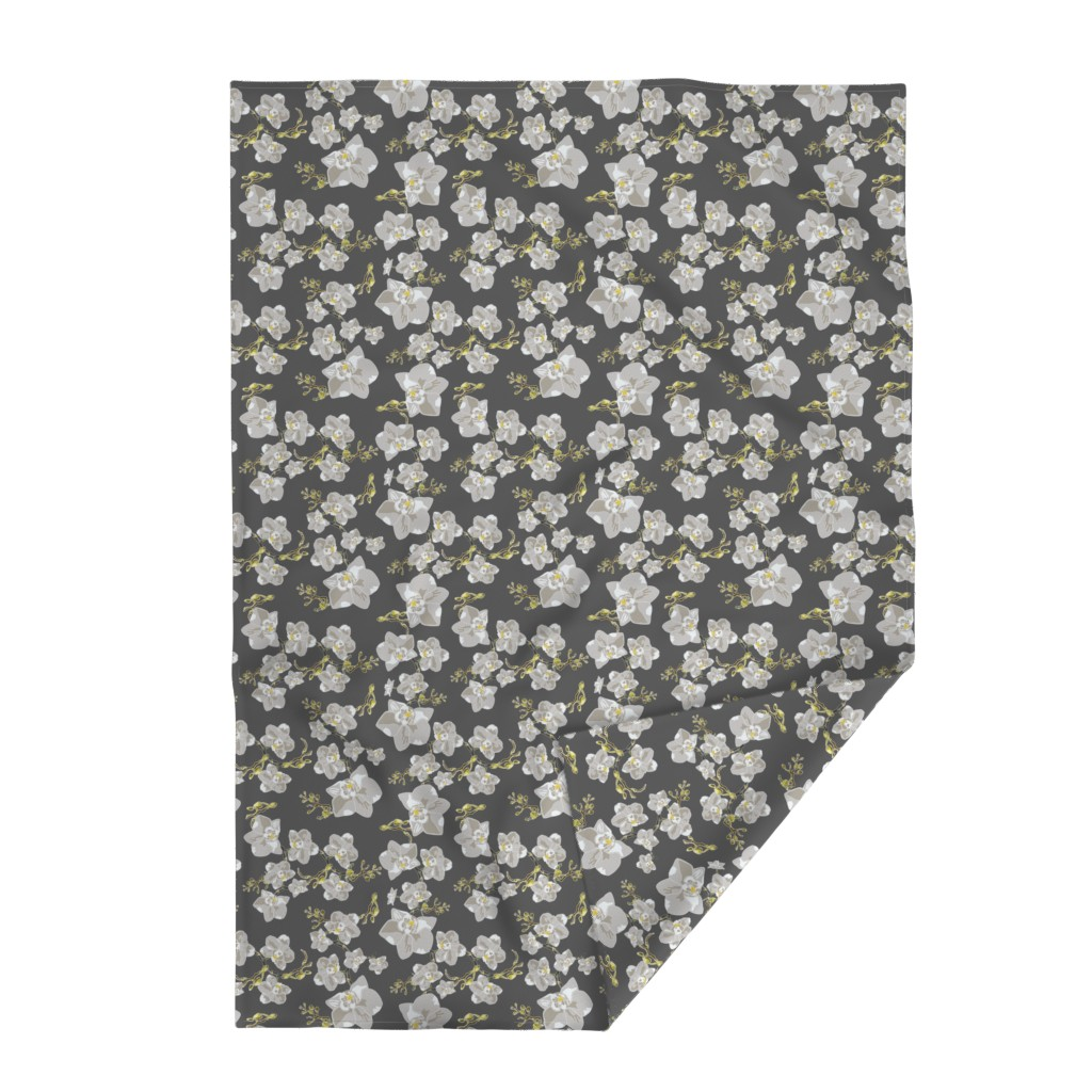Lakenvelder Throw Blanket featuring Orchids by saralinegraphics