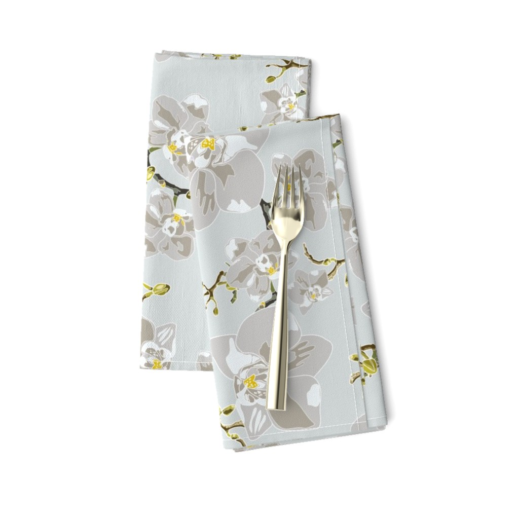 Amarela Dinner Napkins featuring Orchids by saralinegraphics
