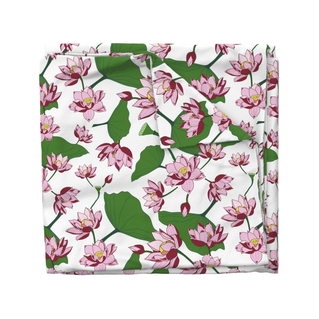 Wyandotte Duvet Cover featuring Waterlily by saralinegraphics