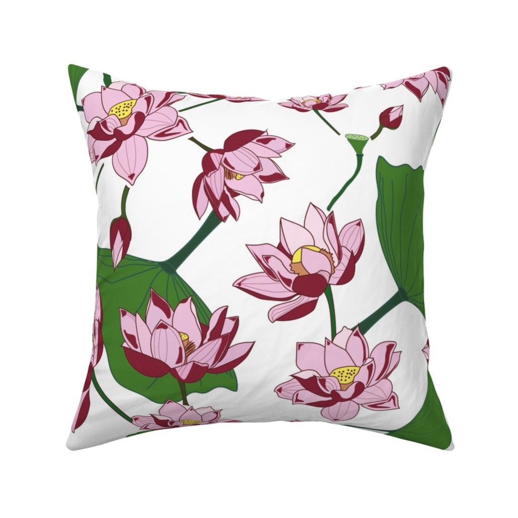 Catalan Throw Pillow featuring Waterlily by saralinegraphics