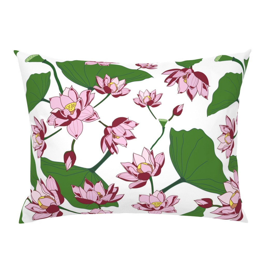 Campine Pillow Sham featuring Waterlily by saralinegraphics