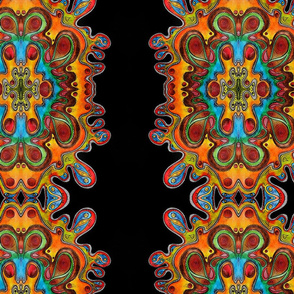 Abstract Hand Drawn Colorful Pattern