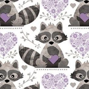 Raccoon's Valentine - Lavender