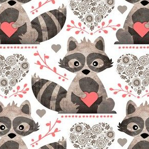 Raccoon's Valentine - Coral