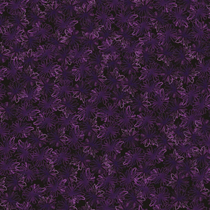 Les Petites Fleurs: Abstract Dark