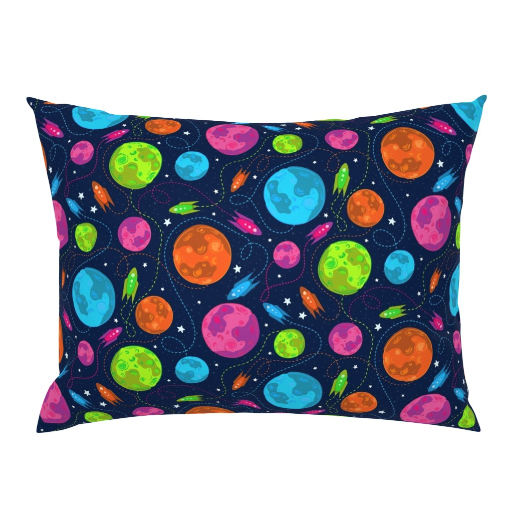 Campine Pillow Sham featuring Night Sky Space Explorations by xoxotique