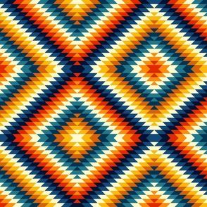 Colorful aztec diamonds Fabric