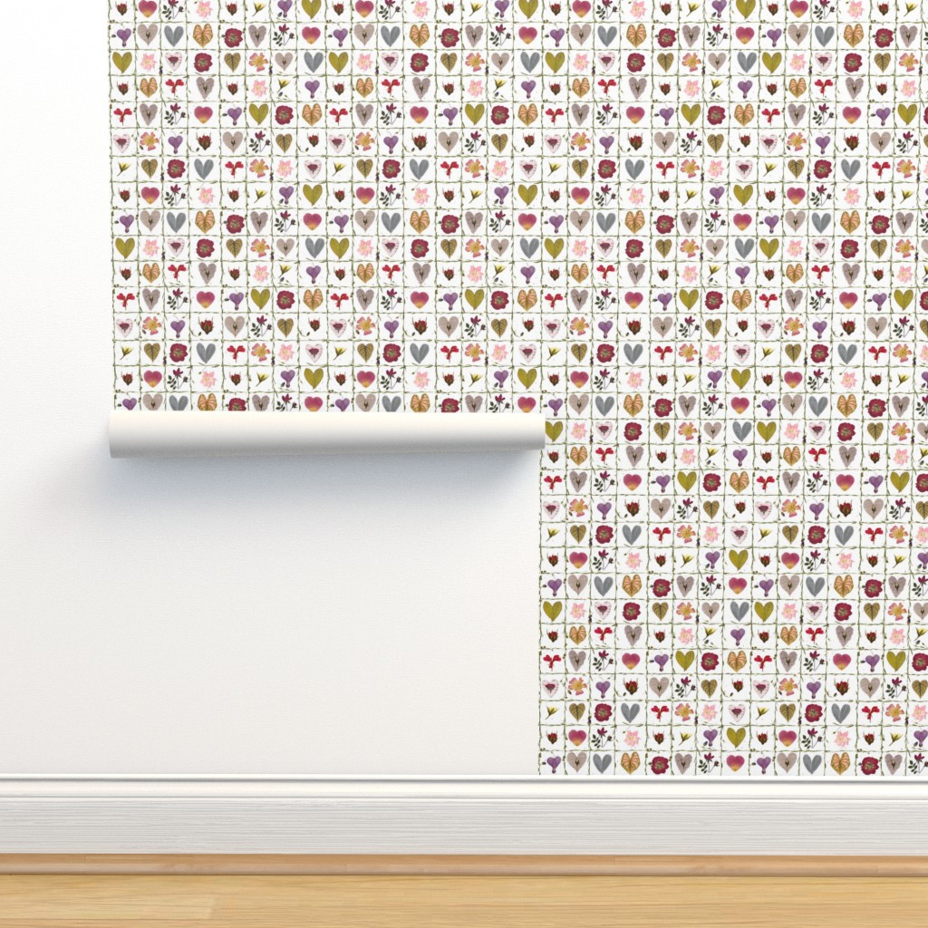 Isobar Durable Wallpaper featuring Valentine Garden by mypetalpress