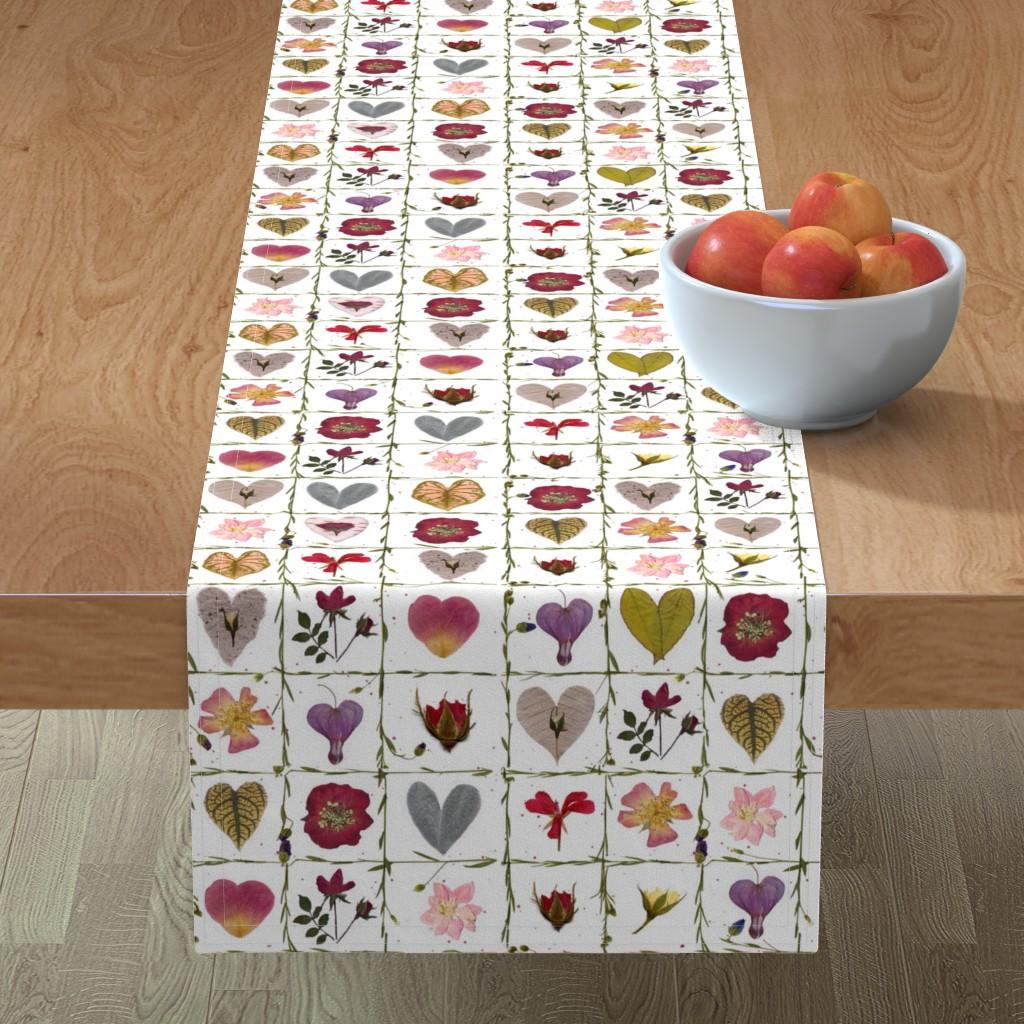 Minorca Table Runner featuring Valentine Garden by mypetalpress